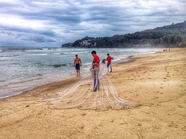 Fishermen (Kamala Beach) Travel Photography Beach Portraits Of Life The Traveler - 2015 EyeEm Awards
