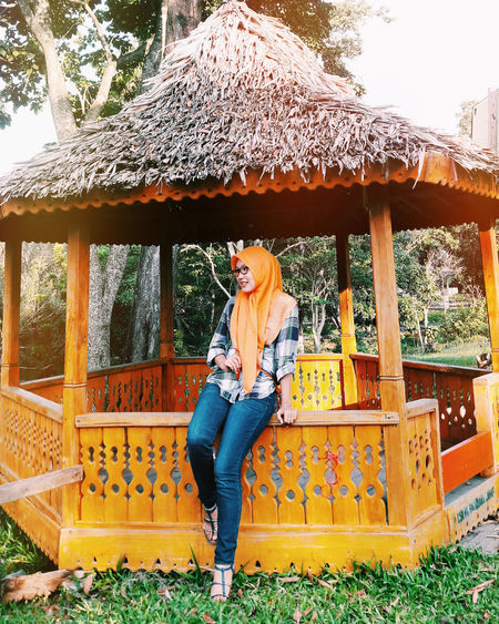 I see you... 👀 Young Women Outdoors Built Structure Architecture Temple - Building Hijabers Hijabstyle  Love Nature Wonderful Indonesia Palembang-Indonesia Lahat Obelixphotohraphy