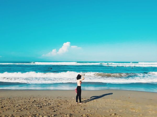 summer is here 2 Bali Sunny Day Beach Beachphotography Beach Photography Beach Life Beachlife Beach Day Beach View Summertime Summertime Summer Summer Vibes EyeEm Selects Beach Sea Land Water Sky One Person Horizon Over Water Summer Exploratorium