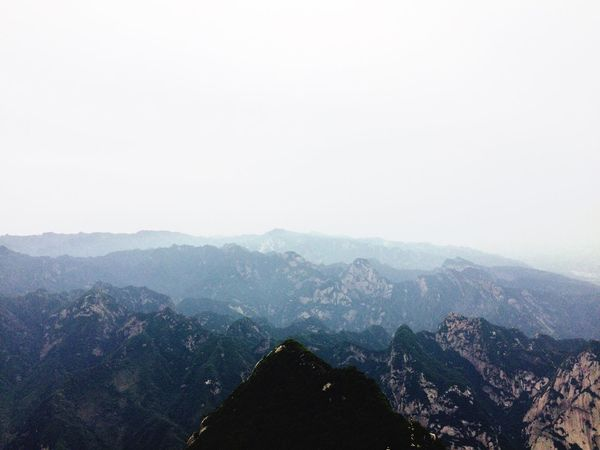The Great Outdoors - 2017 EyeEm Awards Huashan Mountain Beauty In Nature Landscape Mountain Range Clear Sky Outdoors Nature China Travel Destinations