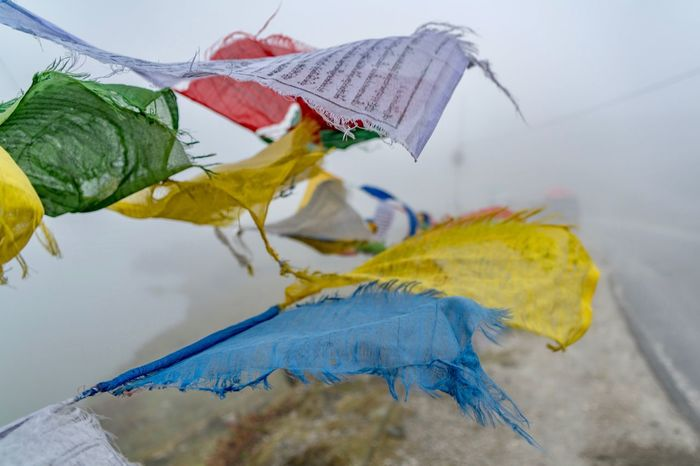 EyeEm Selects Tibet Tibetan  Tibetan Buddhism Tibetan Prayer Flags Tawang India Arunachal Pradesh Street Photography Streetphotography Religion Religion And Beliefs Fragility No People Close-up Focus On Foreground Nature Autumn Blue Day Beauty In Nature Outdoors Flower Water Sky EyeEmNewHere An Eye For Travel