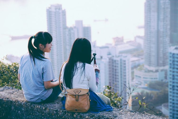 Stand by me. Friendship Happiness ♡ EyeEmNewHere EyeEm Nature Lover Devilspeak HongKong Hongkonger Cityscapes_collection Follow Follow4follow Followback Kodak Kodak Portra Kodakfilm Filmphotography Vscofilm Canon_photos Canon6d Standbyme Two People