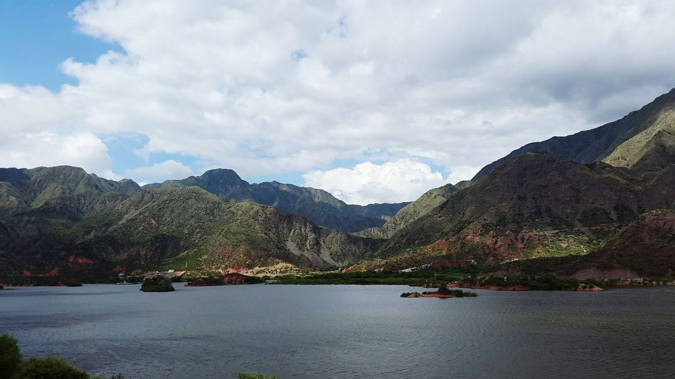 Lake Water Mountains And Clouds Larioja Argentina