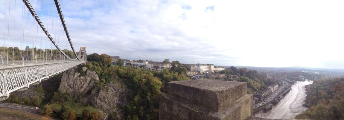 Panoramic view, Clifton Bristol UK. Architecture Sky Built Structure Day Outdoors Nature Suspension Bridge Brunel Panorama Panoramic View Viewpoint River View River Tidal