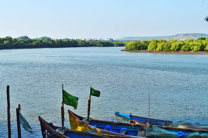 Water Nautical Vessel Transportation Boat Mode Of Transport Lake Scenics Blue Tranquil Scene Moored Tranquility River Rippled Nature Sky Outdoors Day Non-urban Scene Beauty In Nature No People Beauty In Nature