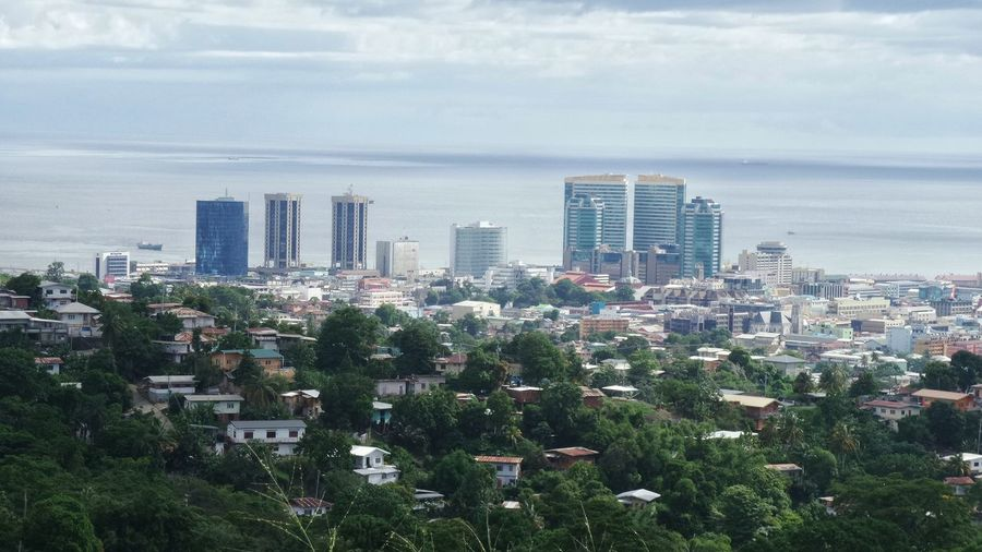 Aerial Shot Cityscapes Trinidad And Tobago Samsung Kzoom Port Of Spain