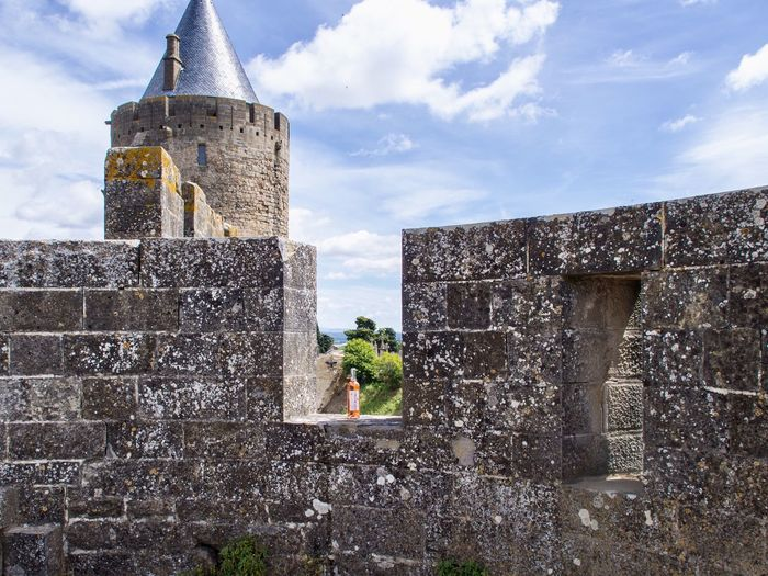Wine Moments Architecture Stone Wall Day France Carcassonne Tower Wine