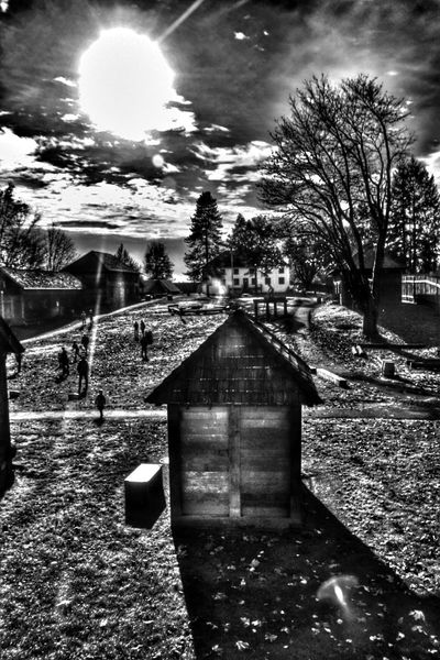 shadow city Photography Blackandwhite Fortlangley Canada Britishcolumbia