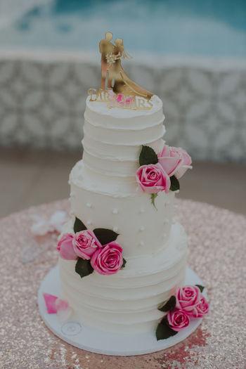 Close-up of pink cake