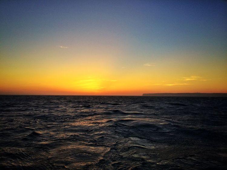 Tramonto a Lampedusa 09052015 Sunset Sunset Silhouettes Tramonto Lampedusa  Mare