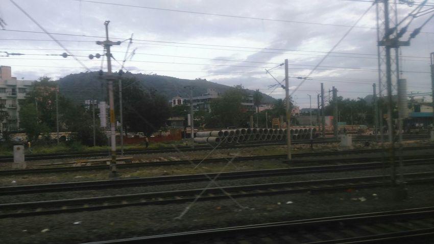 Vijayawada Rail Track Sky Clouds And Sky Travel Photography PhonePhotography