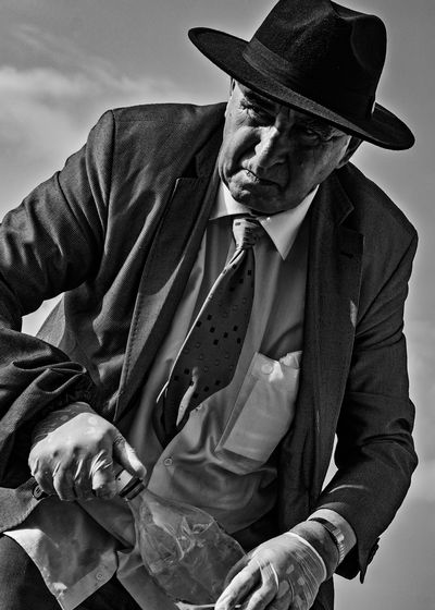 Portrait of man wearing hat