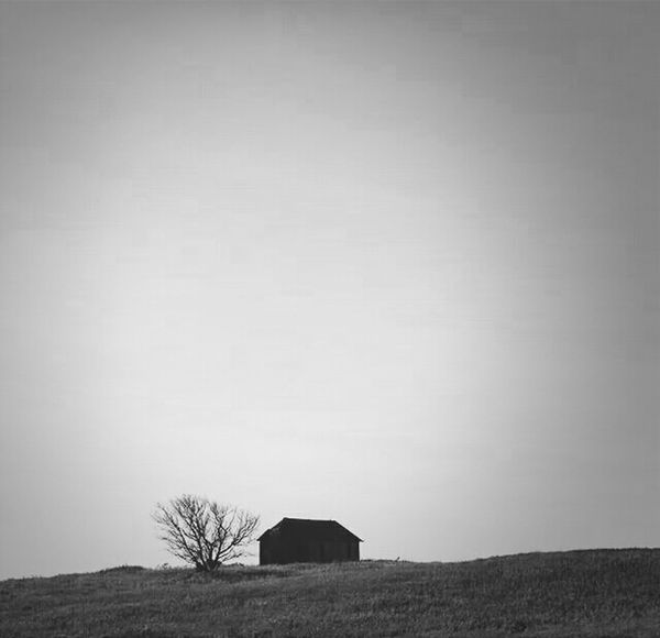 Negative Space Little house on the Prairie Blackandwhite Abandoned Buildings The Calmness Within