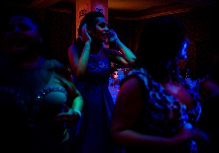 Young woman dancing in nightclub