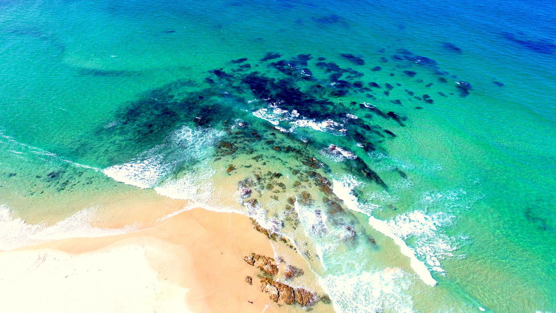 Reef Brunswick Brunswick Heads Water Backgrounds High Angle View Close-up Shore Abstract Backgrounds