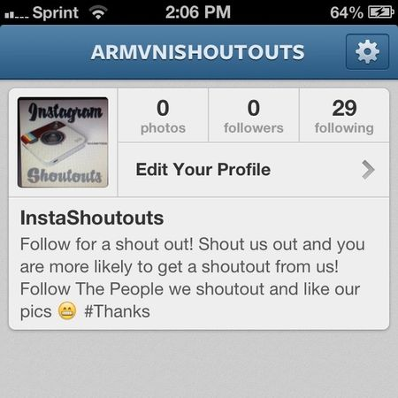 Follow and shout us out so we can get this started