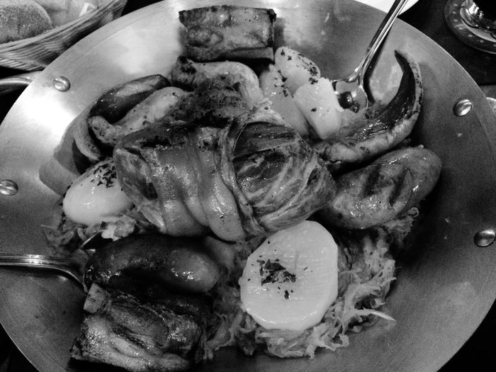 German Food Having A Beer Meat And Potatoes Enjoying Life Monochrome Blackandwhite Hanging Out