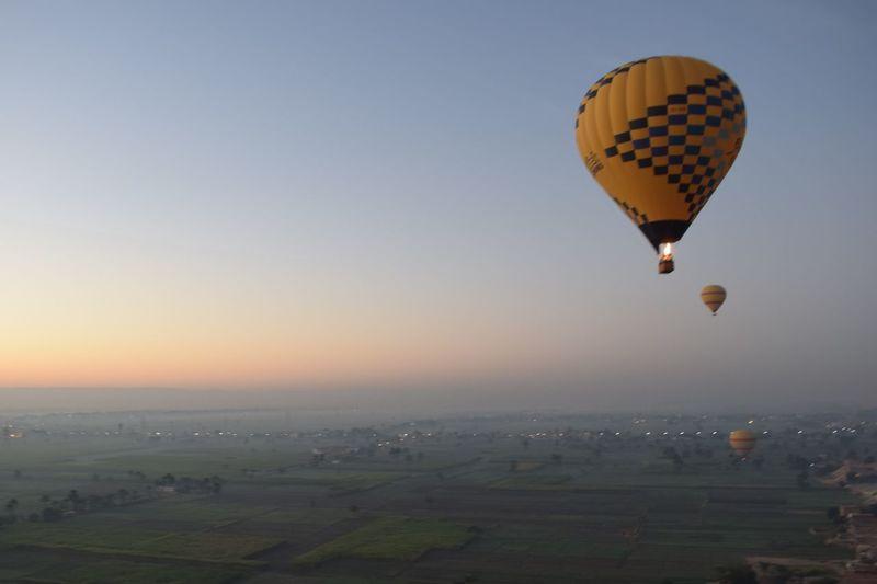Luxor Hot Air Ballon EyeEmNewHere Sunrise Sky Ballons In The Sky Ballon Egypt