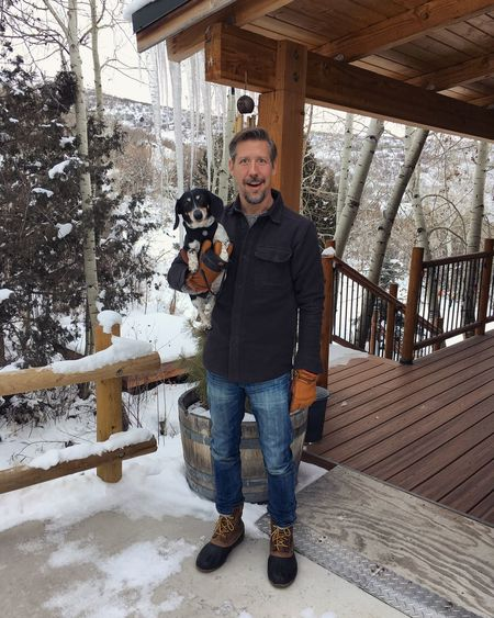 can't remember if we took this for the big icicles or the small dachshund. ¯\_(ツ)_/¯ Utah Wasatch County Winter Icicles Dachshund Front View Portrait Looking At Camera Standing Full Length One Person Hands In Pockets Real People