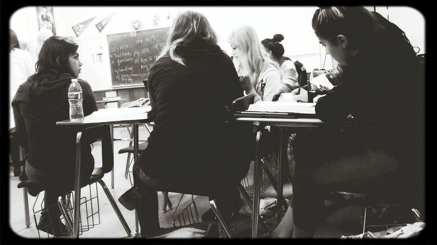 Students Class Atmosphere Monochrome
