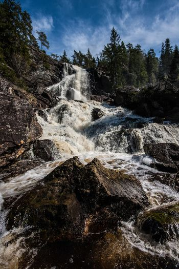 Beauty In Nature Elgåfossen Nature No People Norway Power In Nature Springtime Waterfall
