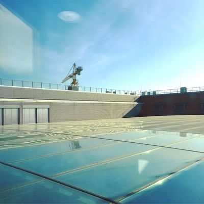 Abstract Photography Architecture Berlin Photography Glass Roof Reflection Roof Rooftop Abstract Architecture Berliner Ansichten Berlinstagram Building Exterior Built Structure City Crane Day Human Representation Minimal No People Outdoors Sculpture Sky Statue Travel Destinations Zdf