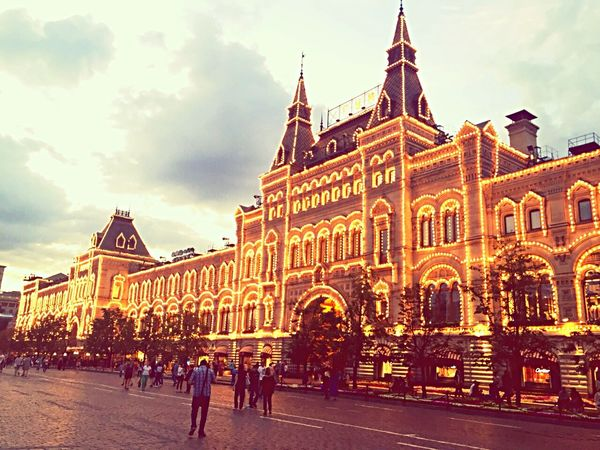 GUM, you're so excited!😍 Moscow Gum Redsquare Evening Beautifulbuildings Amazing ГУМ Москва красная площадь невероятнокруто