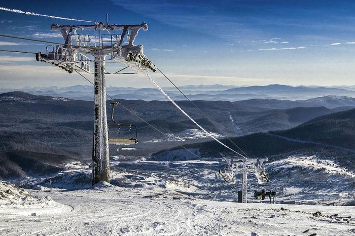 Sheregesh Winter Alpine Skiing Cold