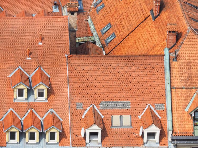 Ljubljana Roof Tops EyeEm Selects Architecture Building Exterior Built Structure Window Building Brick Day No People House City Roof Outdoors Wall - Building Feature Wall Sunlight Orange Color