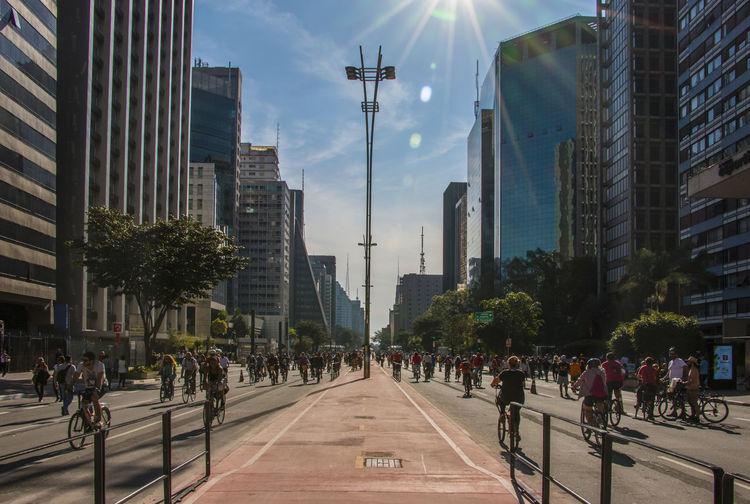 Avenida Paulista City Life Cycling Outdoors Perspective Sunday Sunshine São Paulo Urban Celebrate Your Ride
