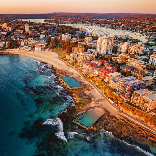 Cronulla Rockpools Sydneyphotographer Sydneybusiness Ilovesydney Sydneyvideographer Sydneynetworking Sydney Commercialvideo Commercialphotography Commercialproperty Cityscape City Water Sea Sunset Aerial View Urban Skyline High Angle View Sky Landscape Calm Airplane Horizon Over Water