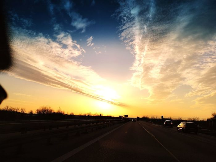 magic of nature 2 Sunset Road Dramatic Sky Sky Cloud - Sky Landscape Highway Car Point Of View Two Lane Highway