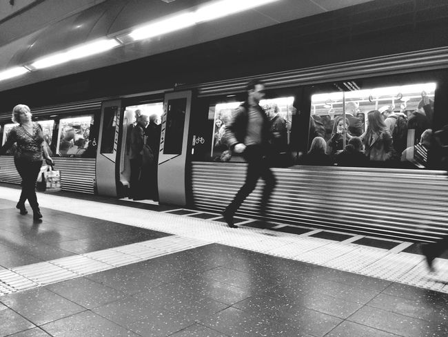Rush... Street Photography Traveling Black And White