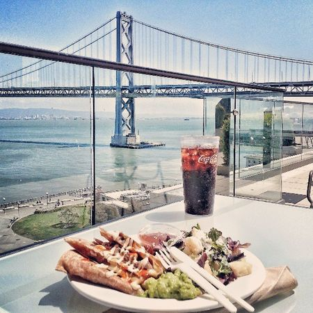 Lunch with a better View . Awrsome weather in Sanfran today. Baybridge