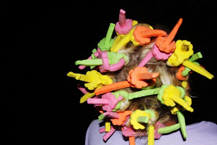 Hair decoration Hair Design Hair Decoration Hairstyle Black Background Studio Shot Indoors  Freshness Close-up Multi Colored Flower Still Life Flowering Plant Copy Space No People Petal Flower Head Inflorescence Art And Craft Creativity Cut Out