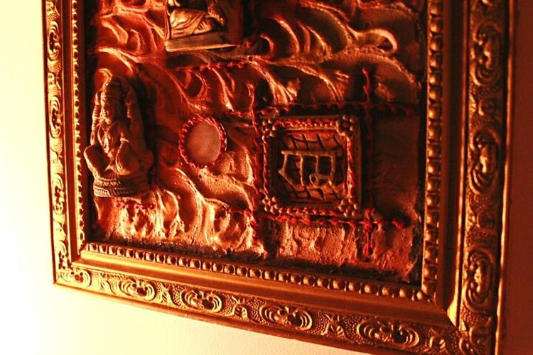 Wall Hanging Sunny Day Original No Effects Sunlight RAM Orange Color Interior Design Taking Photos Peek Inside My Home Hindu Gods Check This Out Close Up Photography Your Design Story