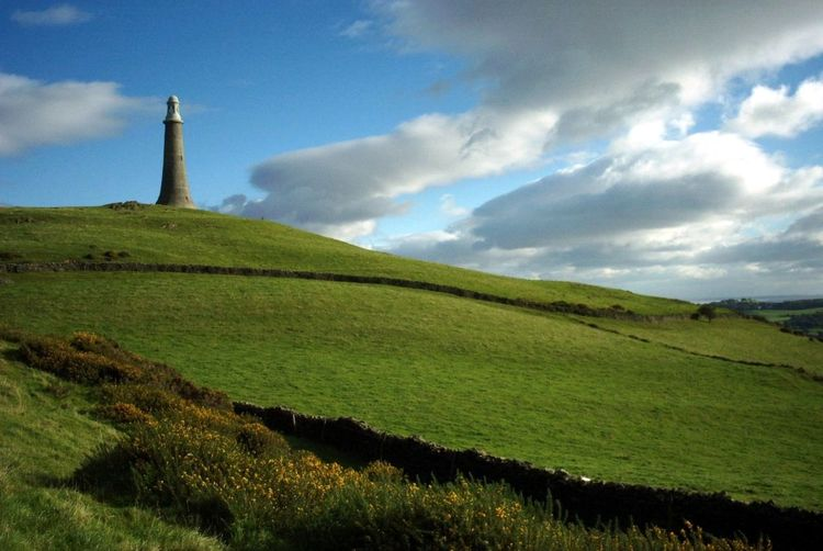 Architecture Beauty In Nature Cloud - Sky Day Field Grass Green Color Growth Hoad Hill Hoad Monument Landscape Nature No People Outdoors Scenics Sky Tranquil Scene Tranquility Ulverston