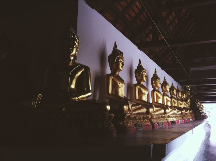 Thailand Travel Temple Walking Around
