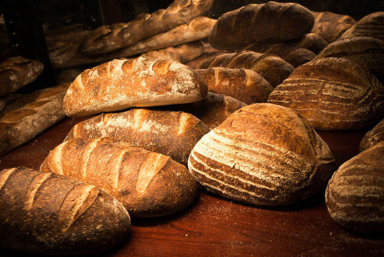 Bread on display Stack Textured  Abundance Brown Large Group Of Objects Backgrounds Log Full Frame Close-up Selective Focus Repetition Lumber Industry In A Row Group Of Objects Wood Collection Day Sandstone Freshness Outdoors Breads Bread Breadmaking