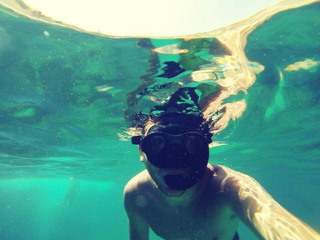Look at me :) Water Reflections SeaSub Malta2014