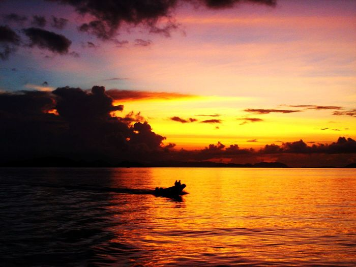 Wonderful Indonesia Eyeemphoto Sunset Boat Nature Landscape Sea Sea And Sky