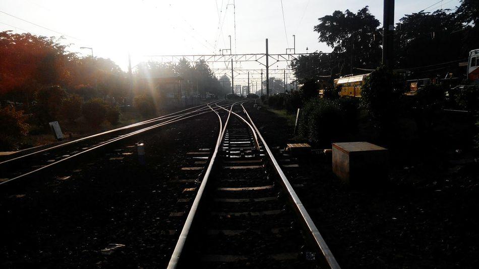 Bekasi Morning Bekasi Railway Sun Sunbright