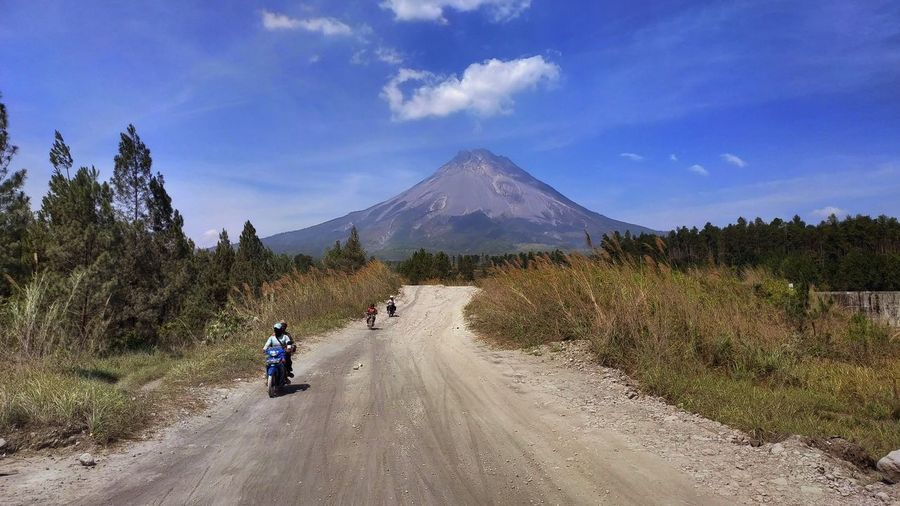 Adventure of Mount Merapi, an active volcano Mountain View Traveling Trees Active Volcano Adventure Beauty In Nature Cloud - Sky Landscape Mountain Mountain Range Nature Outdoors Plant Sky Travel Destinations Trees And Sky Volcano