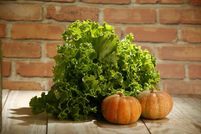 alface lettuce Raw Food Alface Crespa Alface Herb Plant Part Day Leaf Plant Close-up Table Still Life Wall - Building Feature Pumpkin No People Brick Wall Wall Wellbeing Green Color Brick Freshness Healthy Eating Food Vegetable Food And Drink Lettuce EyeEmNewHere