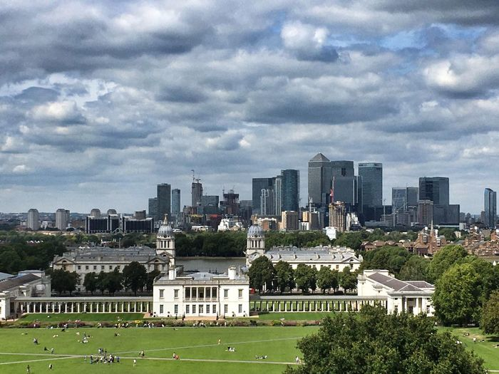 Skyline London ... a classic view of LONDON❤ from Greenwich Park on my weekend cycle ride today. Cloud - Sky Cityscape EyeEm Best Shots