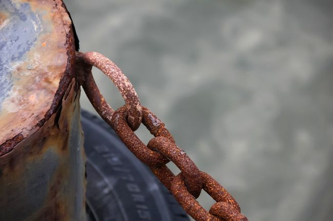 Rope Rusty Nautical Vessel No People Day Outdoors Water Beach Sea Close-up Nature