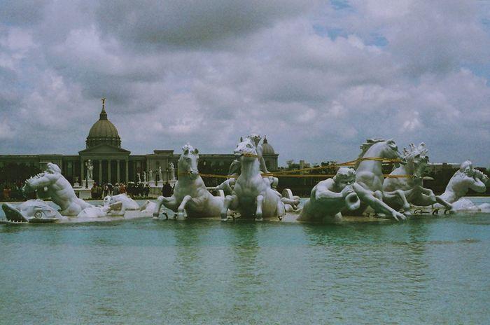 菲林 OlympusOm10 My OM10 35mm Film Overduefilm Statue Watertank Hourse フィルム