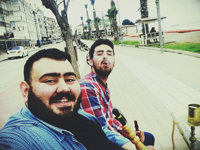 Enjoy The New Normal Young Adult Young Men Young Women Beard Togetherness Lifestyles Adult Happiness People Adults Only Portrait Friendship Nargilekeyfi Outdoors Men Smiling Tree Day Keyifbudur Yalova