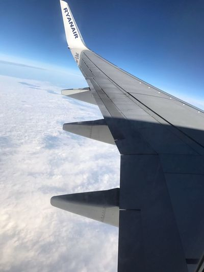 Upintheair UpinTheSky Upintheclouds Airplane Sky Cloud - Sky Airplane Wing Ryanair Travel Byplane Travelbyplane Happiness Abovetheclouds