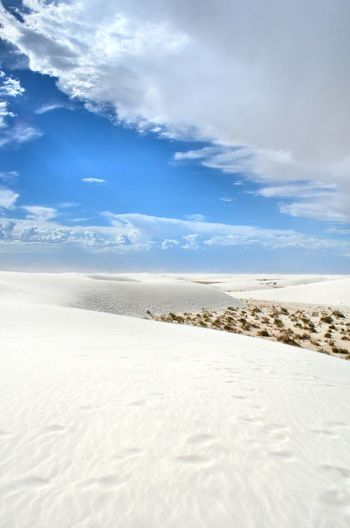 White Sand White Sands White Sands National Park White Sands N.m. Desert Desert Beauty Nature Clouds And Sky Dunes New Mexico, USA My Favorite Place TakeoverContrast